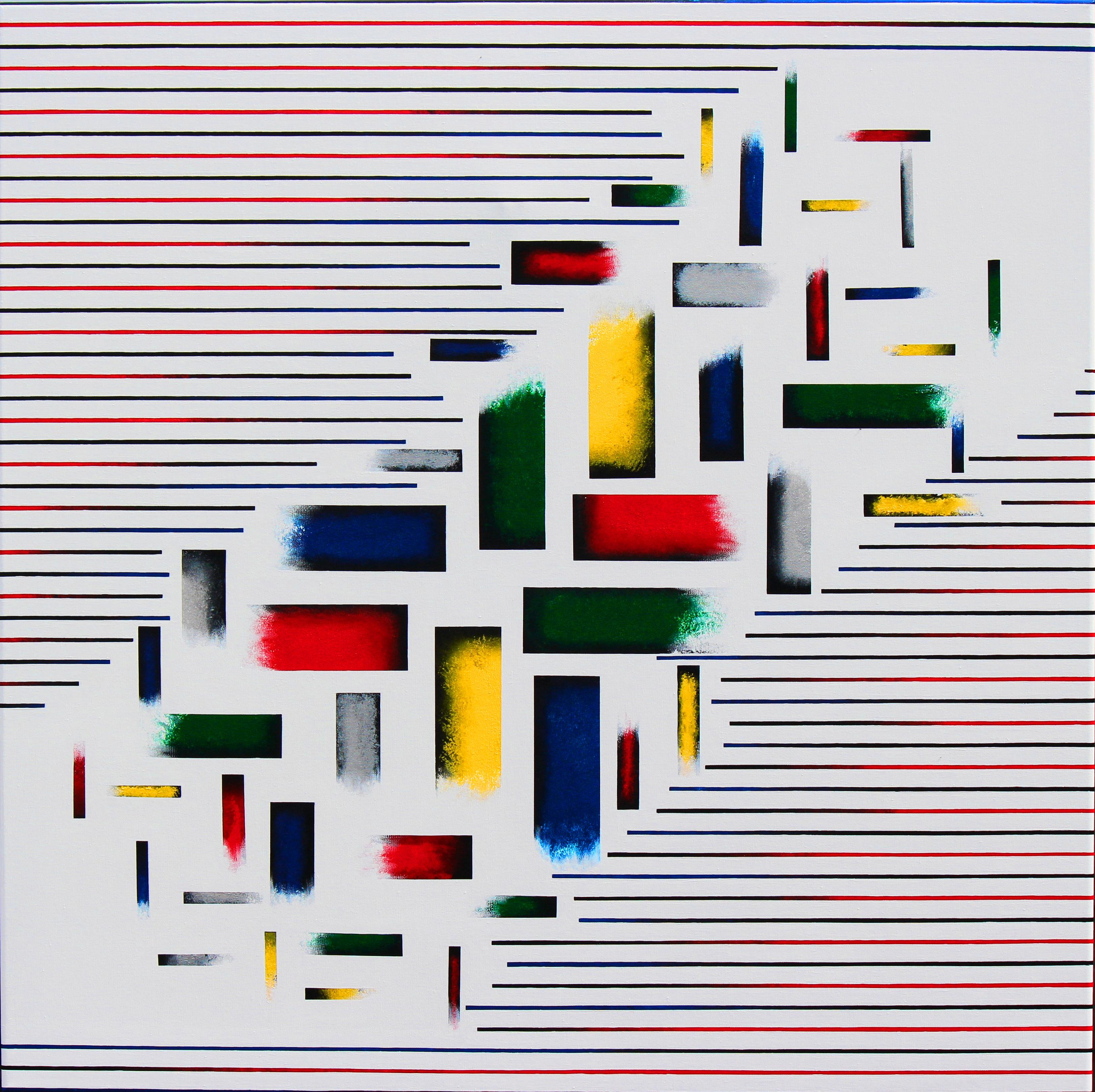 Acrylic painting. Inspiration.Size 100 cm x 100 cm